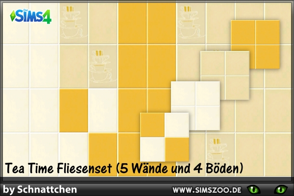 TeaTime kitchen tiles by Schnattchen at Blacky's Sims Zoo image 190 Sims 4 Updates