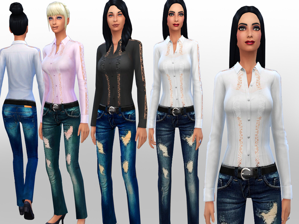 SET Walking down the street by Weeky at TSR image 1915 Sims 4 Updates