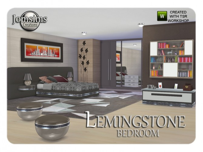 Lemingstone bedroom by JomSims at TSR image 1929 Sims 4 Updates