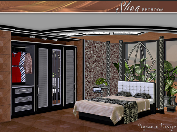 Shea bedroom by nynaeve design at tsr sims 4 updates for Bedroom designs sims 4