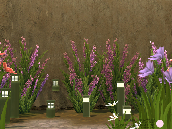 Sims 4 Modern Bollard Lamp Set by DOT at TSR
