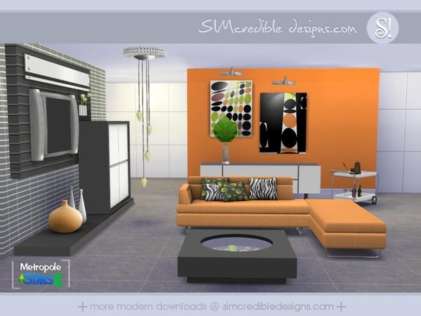 Metropole Living Room Sims