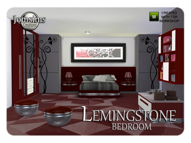 Lemingstone bedroom by JomSims at TSR image 2028 Sims 4 Updates
