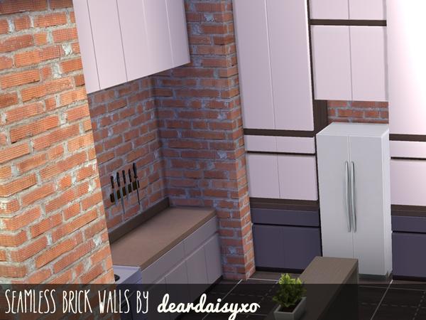 Sims 4 Seamless Brick Walls by deardaisyxo at TSR