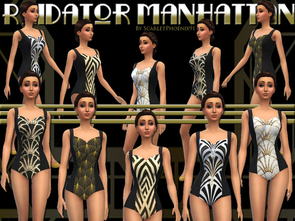 Sims 4 Radiator Manhattan Swimsuit Collection by scarletphoenix91 at TSR