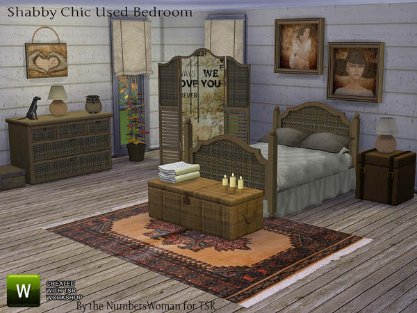 Bargain Shabby Chic Bedroom by TheNumbersWoman at TSR image 209 Sims 4 Updates