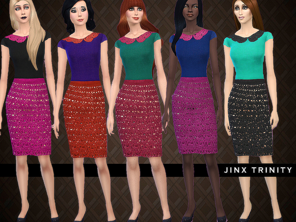 Crochet skirt with matching top by JinxTrinity at TSR image 210 Sims 4 Updates