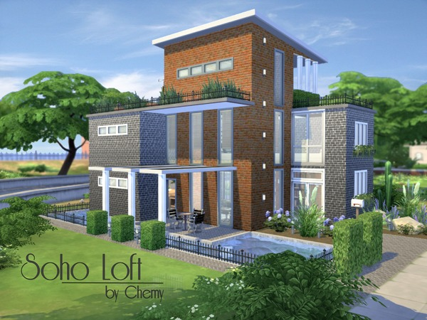 Sims 4 Soho Loft by chemy at TSR