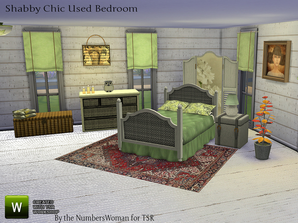 Bargain Shabby Chic Bedroom by TheNumbersWoman at TSR image 2113 Sims 4 Updates