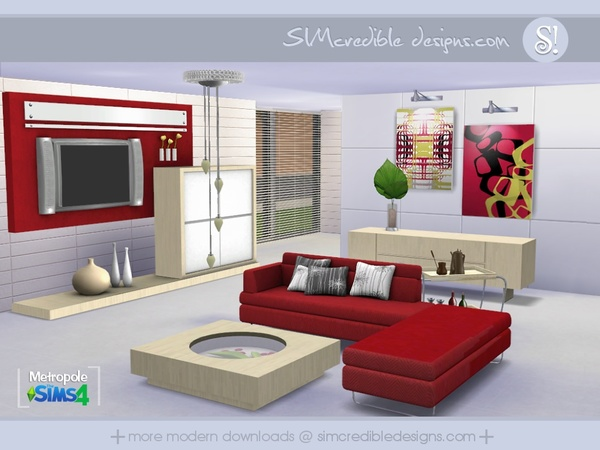 Tsr furniture living room metropole living room by simcredible
