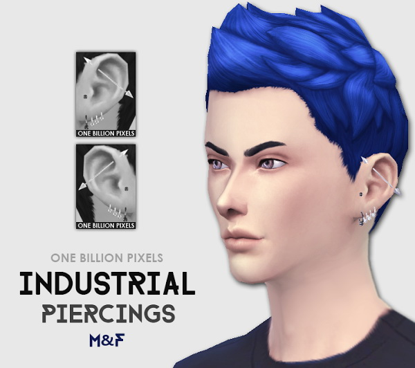 Sims 4 Industrial Piercings at One Billion Pixels