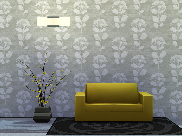Sims 4 Herbarium Wallpaper by Rirann at TSR