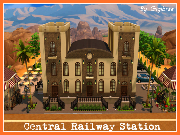 Sims 4 Central Railway Station by Gigibree at TSR