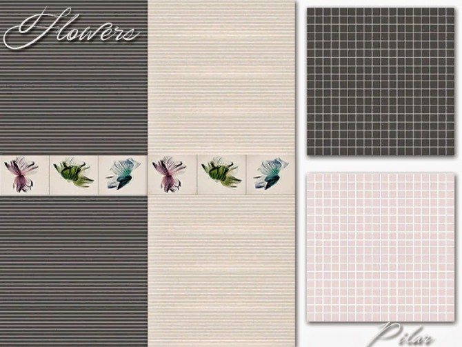Sims 4 Flowers walls & floors by Pilar at SimControl