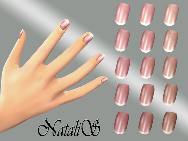 Sims 4 French nails collection by NataliS at TSR