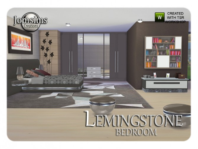 Lemingstone bedroom by JomSims at TSR image 2229 Sims 4 Updates