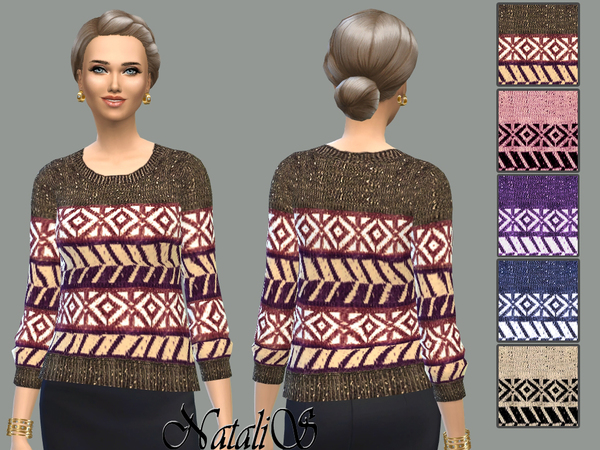 Sweater ornament knit by NataliS at TSR image 2326 Sims 4 Updates