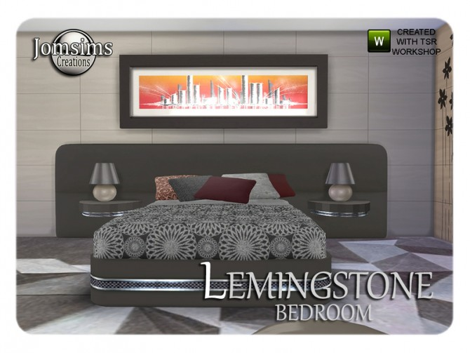 Lemingstone bedroom by JomSims at TSR image 2327 Sims 4 Updates
