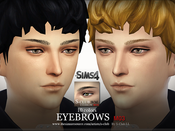 Sims 4 LL Eyebrows M03 by S Club at TSR