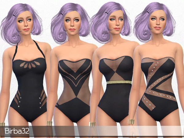 Elegance Swimsuit By Birba32 At Tsr 187 Sims 4 Updates