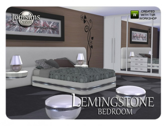Lemingstone bedroom by JomSims at TSR image 2425 Sims 4 Updates