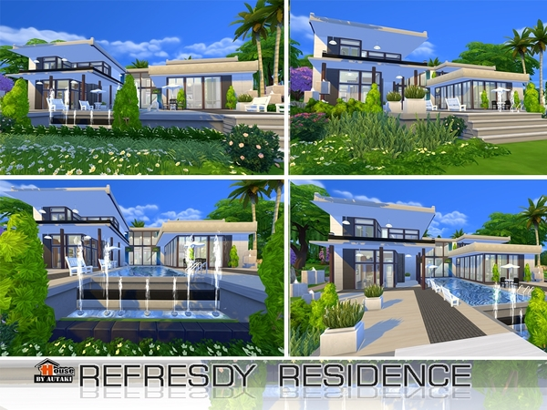 Sims 4 Refesdy residence by Autaki at TSR