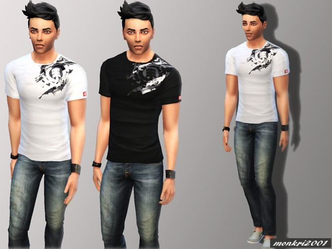 Sims 4 Element T shirts by monkri2001 at Mod The Sims