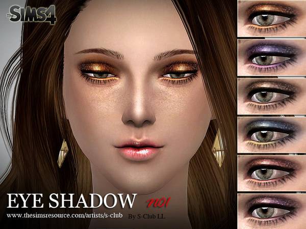 Eyeshadow 01 by S Club LL at TSR image 2626 Sims 4 Updates