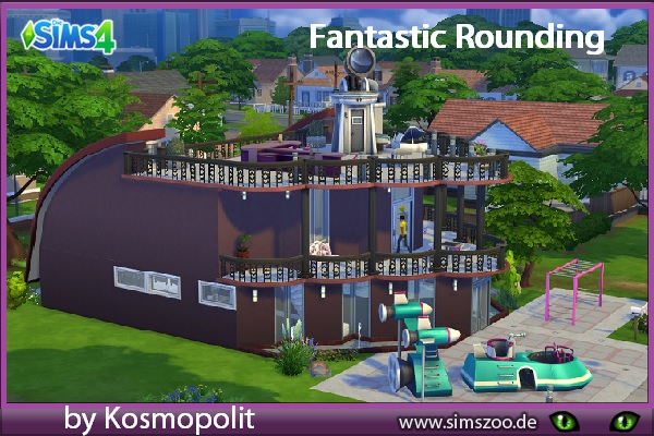 Fantastic Rounding house by Kosmopolit at Blacky's Sims Zoo image 2631 Sims 4 Updates