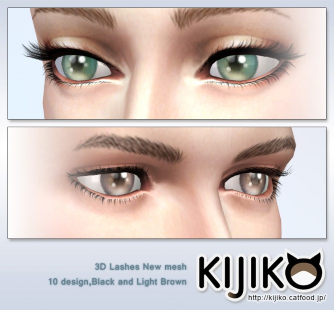 3D lashes curly edition at Kijiko image 2715 Sims 4 Updates
