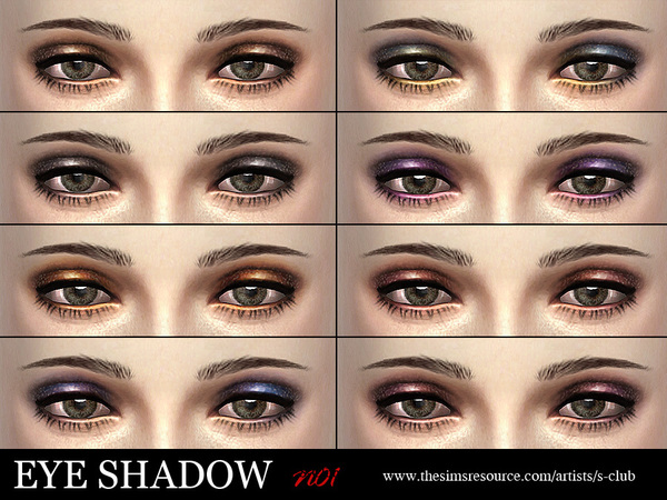 Eyeshadow 01 by S Club LL at TSR image 2724 Sims 4 Updates