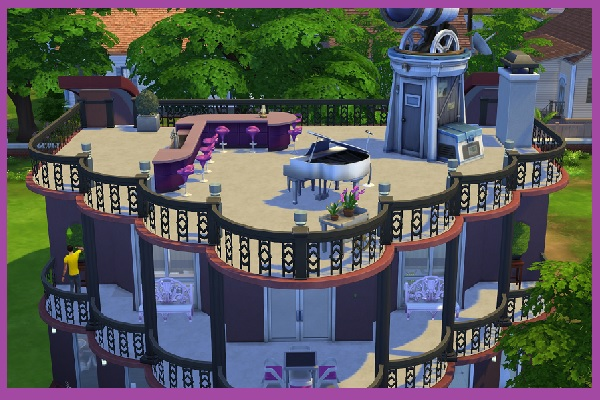 Fantastic Rounding house by Kosmopolit at Blacky's Sims Zoo image 2731 Sims 4 Updates