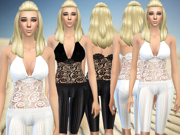 Evening at the beach outfit by Pinkzombiecupcakes at TSR image 2818 Sims 4 Updates