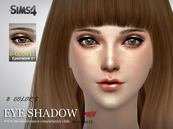 Eyeshadow 01 by S Club LL at TSR image 2826 Sims 4 Updates