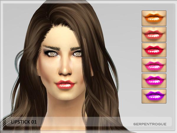 Sims 4 Lipstick 01 by Serpentrogue at TSR