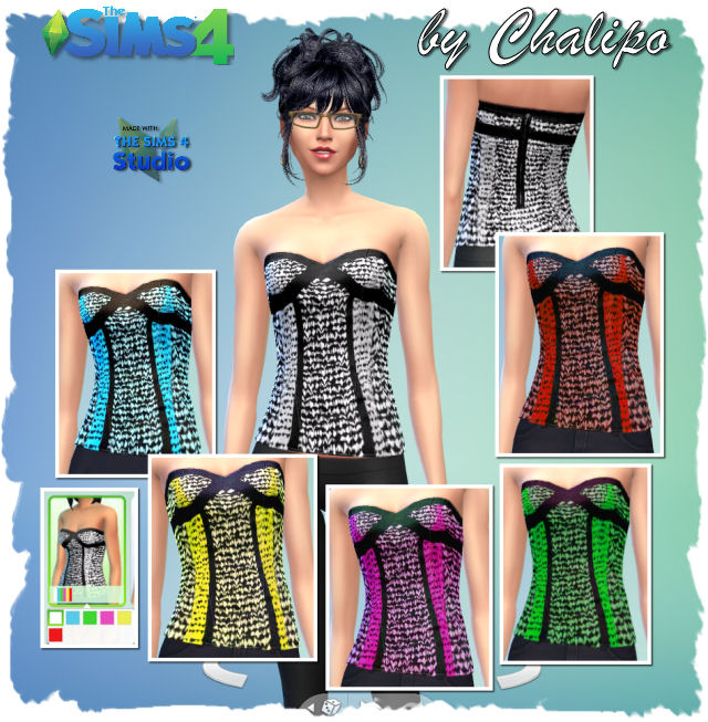 Sims 4 Hoodie and top by Chalipo at All 4 Sims