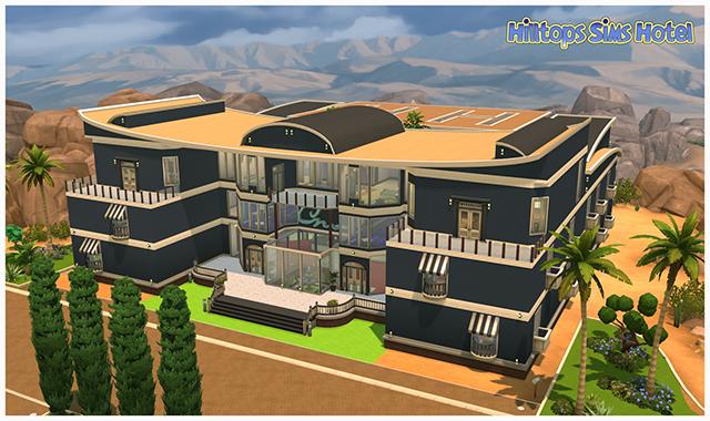 Sims 4 Hilltops Sims Hotel by Sim4fun at Sims Fans