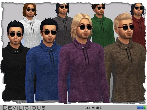 Sims 4 Coll Shirt by Devilicious at TSR