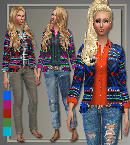 Fall 2014 sweaters, jeans and coat at All About Style image 3100 Sims 4 Updates