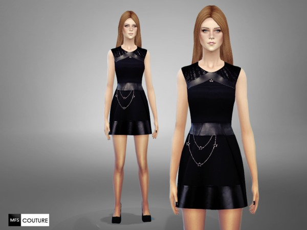 Sims 4 ST4R Dress by MissFortune at TSR