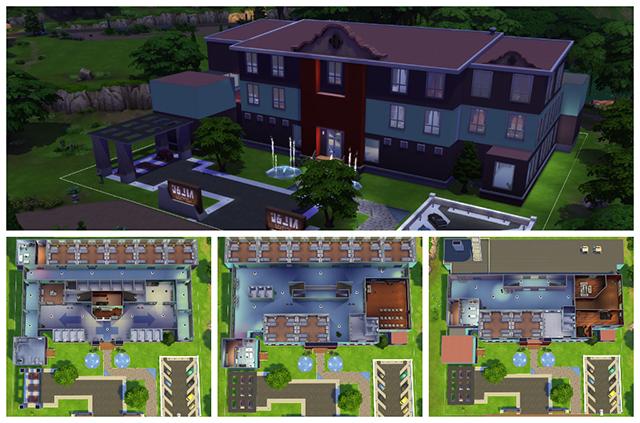 Sims 4 Sims Anatomy Hospital by Sim4fun at Sims Fans