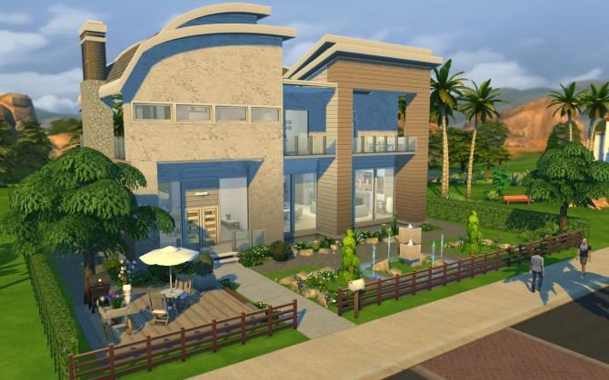 Diana modern villa by erfadk at mod the sims sims 4 updates for Big modern house the sims 4