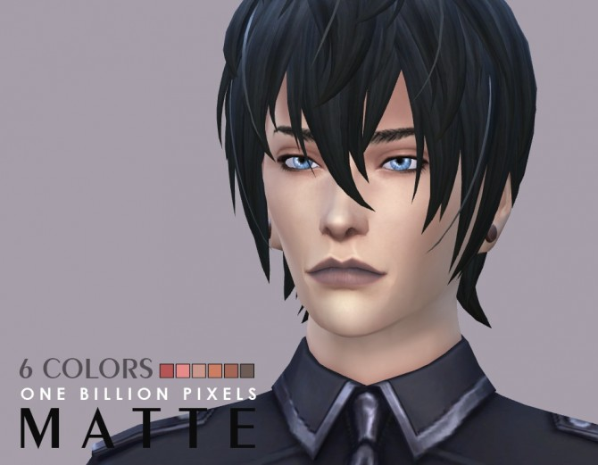 Sims 4 Matte Lipstick For Males at One Billion Pixels