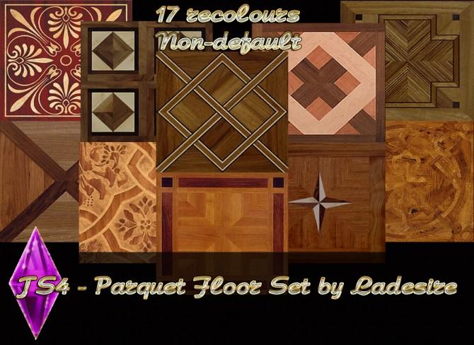 Sims 4 Parquet Set Floor at Ladesire