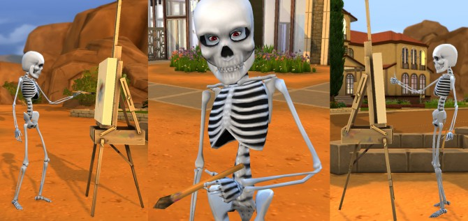 Sims 4 Mr Skeleto by Esmeralda at Mod The Sims
