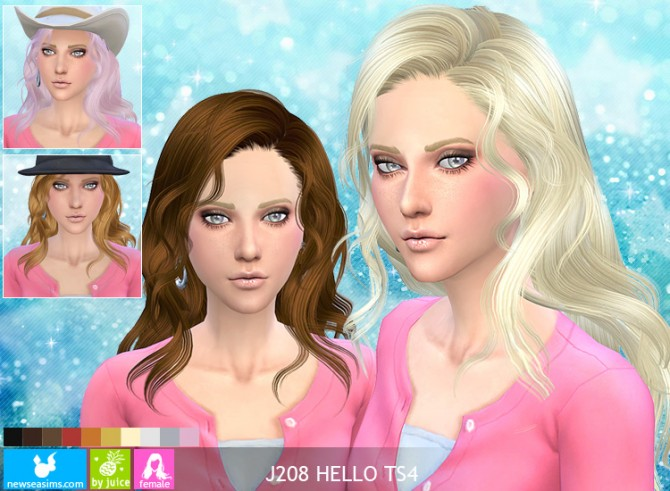 J208 Hello hair at Newsea Sims 4 image 3424 Sims 4 Updates