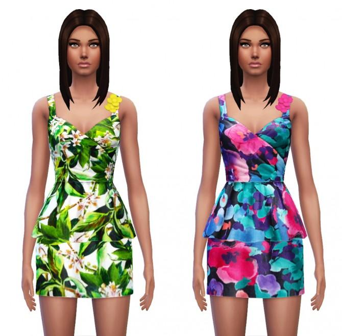 Floral Peplum Dress at Sim4ny image 3428 Sims 4 Updates