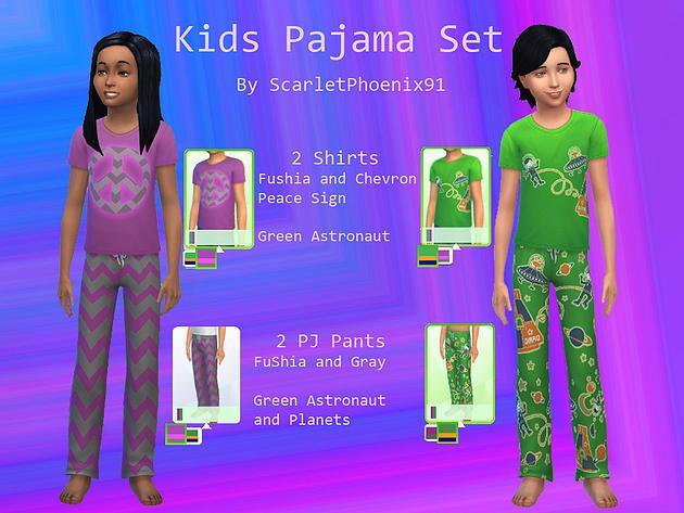 Sims 4 Kids Pajama Set at ScarletPhoenix91
