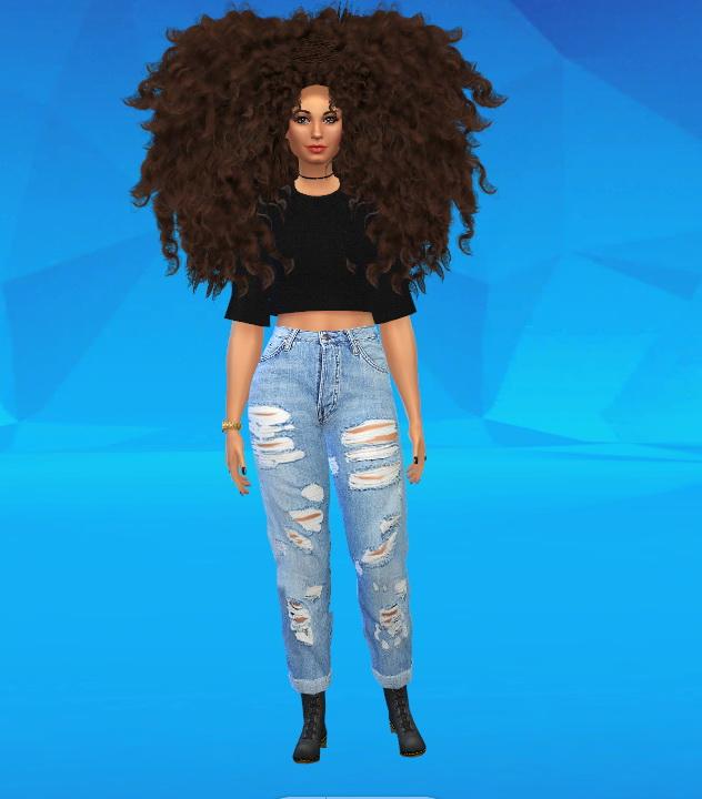 Afro Sims 4 Hair Gourmet X Waves Cut Ym Em By