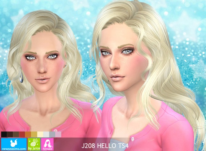 J208 Hello hair at Newsea Sims 4 image 3523 Sims 4 Updates